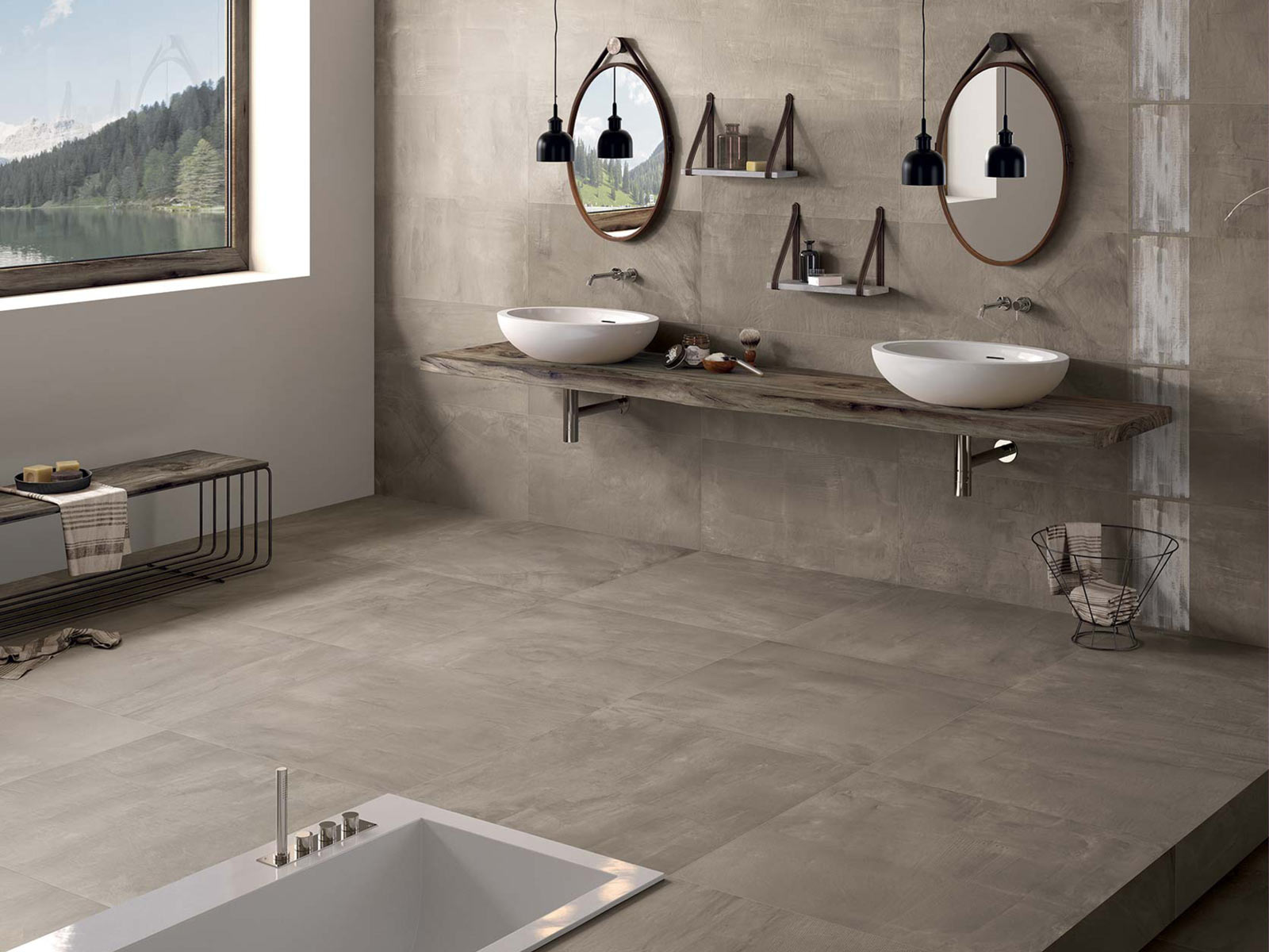 Keramikfliesen Naturstein Und Betonelement Fur Ihr Badezimmer